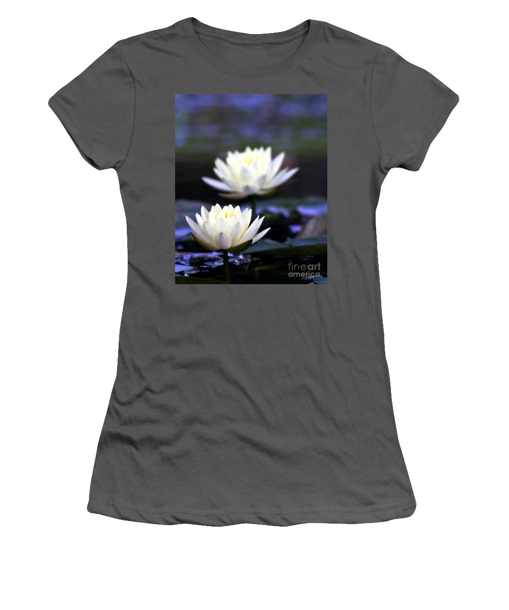 Flowers Women's T-Shirt (Athletic Fit) featuring the photograph Front And Back by Ken Frischkorn