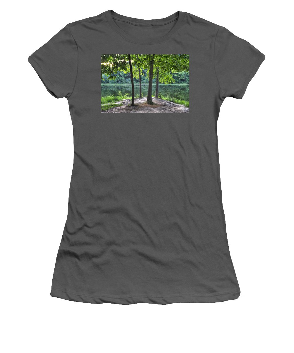 2012 Women's T-Shirt (Athletic Fit) featuring the photograph Getting To The Point by Larry Braun