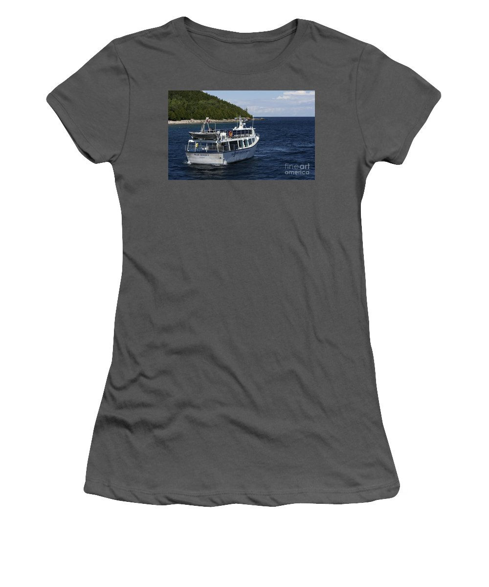 Women's T-Shirt (Athletic Fit) featuring the photograph Glass Bottom Boat by Barbara McMahon