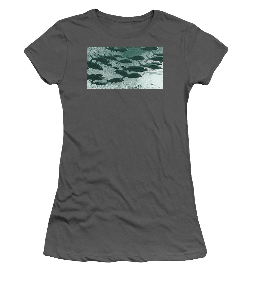 Hawaii Women's T-Shirt (Athletic Fit) featuring the photograph Hawaiian Goatfish School by Bill Owen