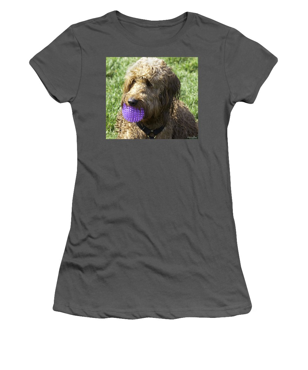 Dog Women's T-Shirt (Athletic Fit) featuring the photograph He's The Boy by Madeline Ellis
