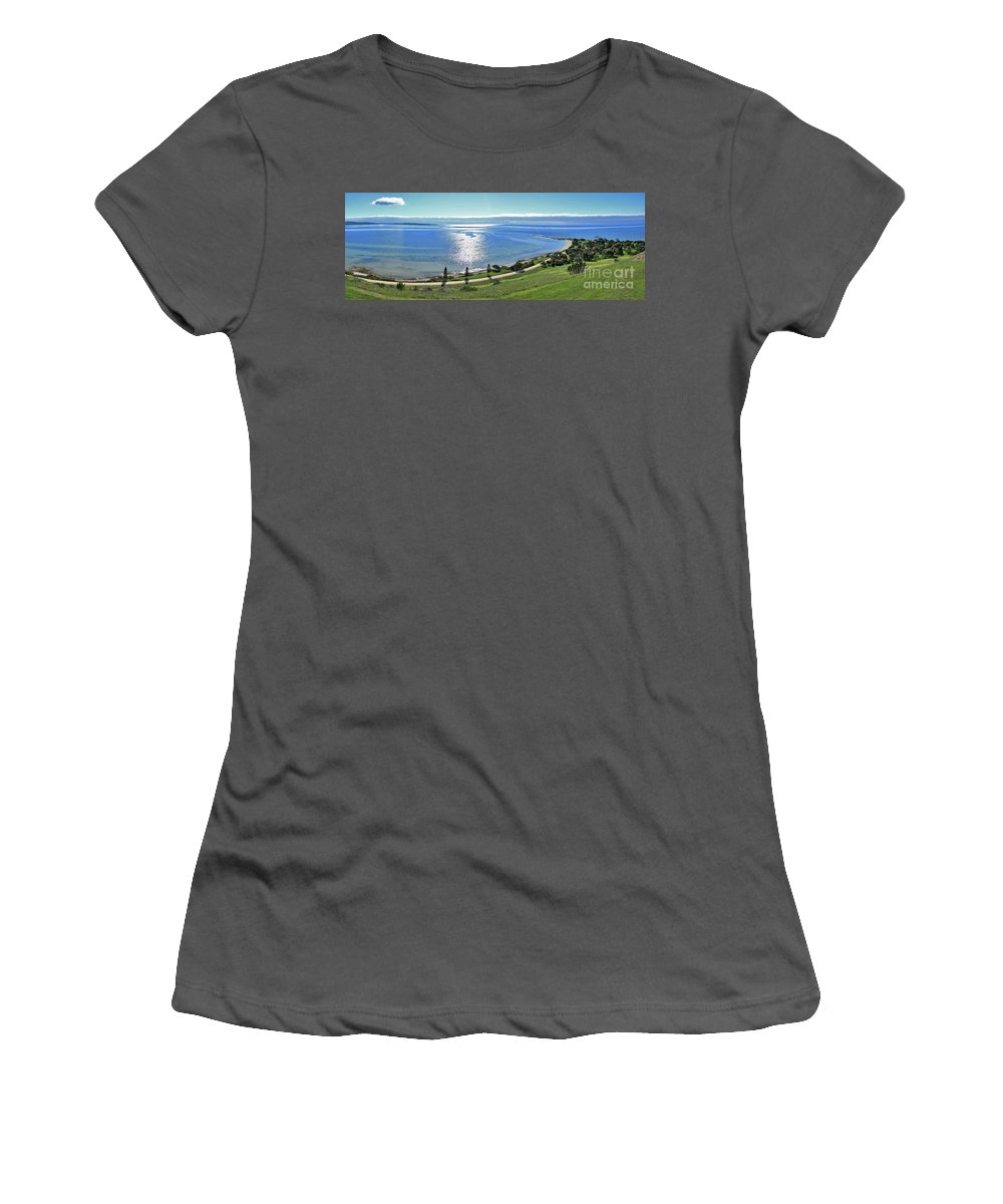 Reeves Point Women's T-Shirt (Athletic Fit) featuring the photograph Holiday Horizon by Stephen Mitchell