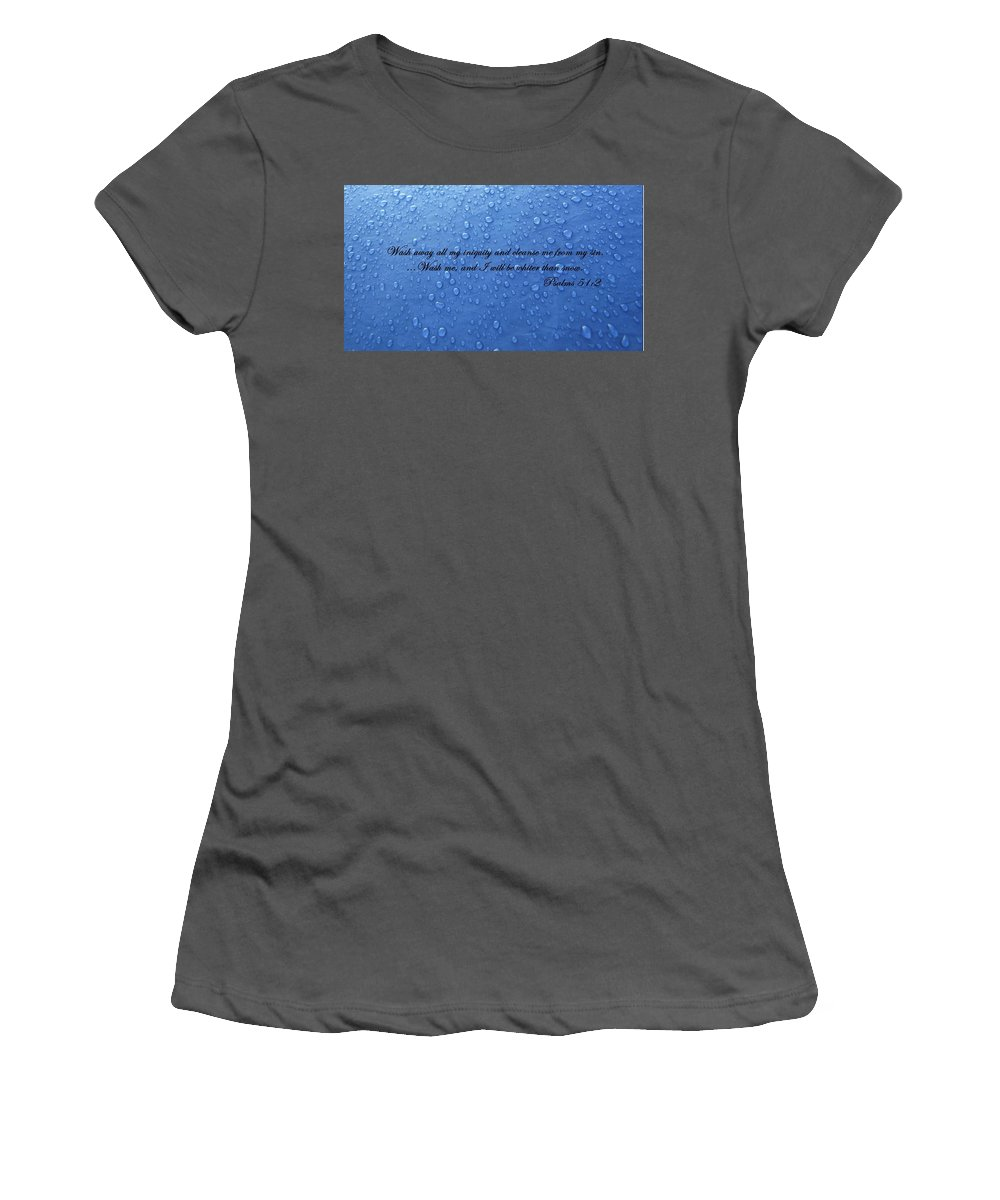Water Women's T-Shirt (Athletic Fit) featuring the photograph Inspirations 15 by Sara Raber
