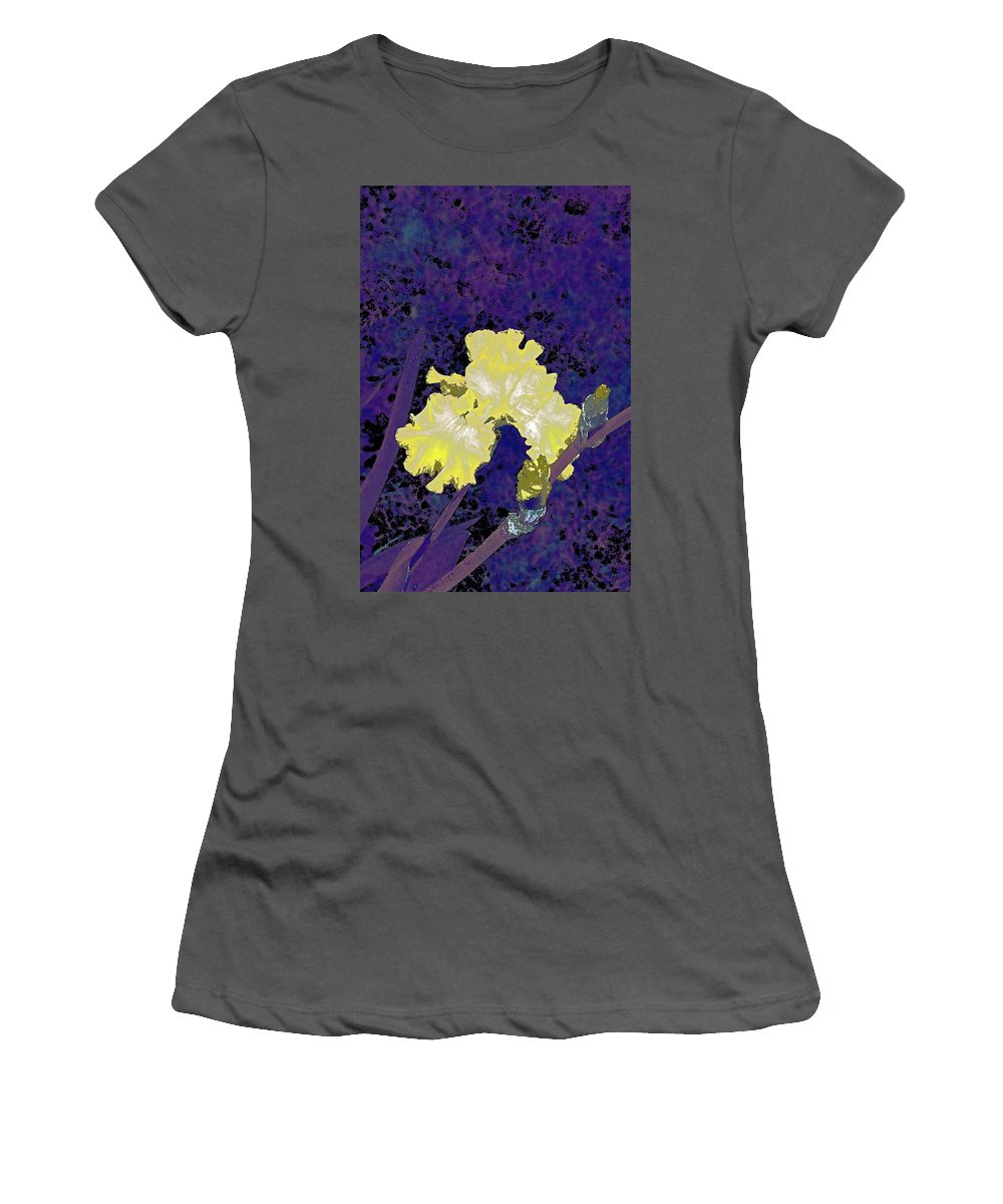 Floral Women's T-Shirt (Athletic Fit) featuring the photograph Iris 36 by Pamela Cooper