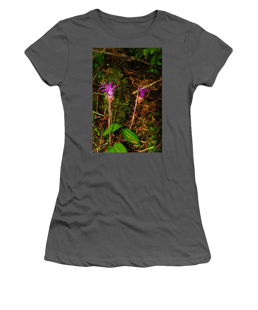 Jack In The Pulpit Women's T-Shirt (Athletic Fit) featuring the photograph Jack In The Pulpit by Jeff Swan