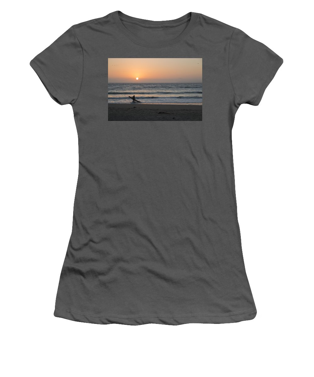 Surfer Women's T-Shirt (Athletic Fit) featuring the photograph Just One More Wave by Heidi Smith