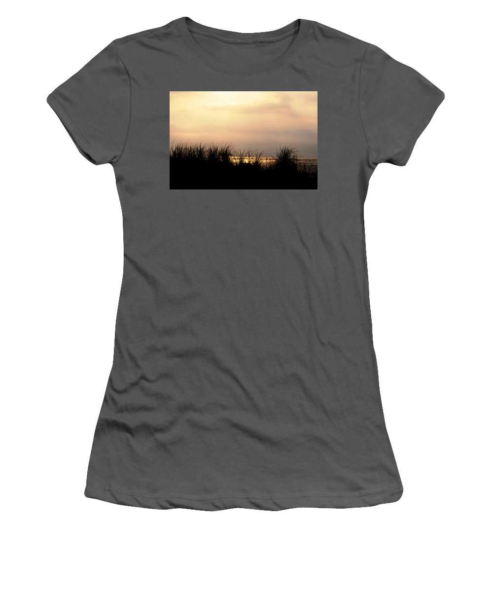 Just Over The Dune Women's T-Shirt (Athletic Fit) featuring the photograph Just Over The Dune by Bill Cannon