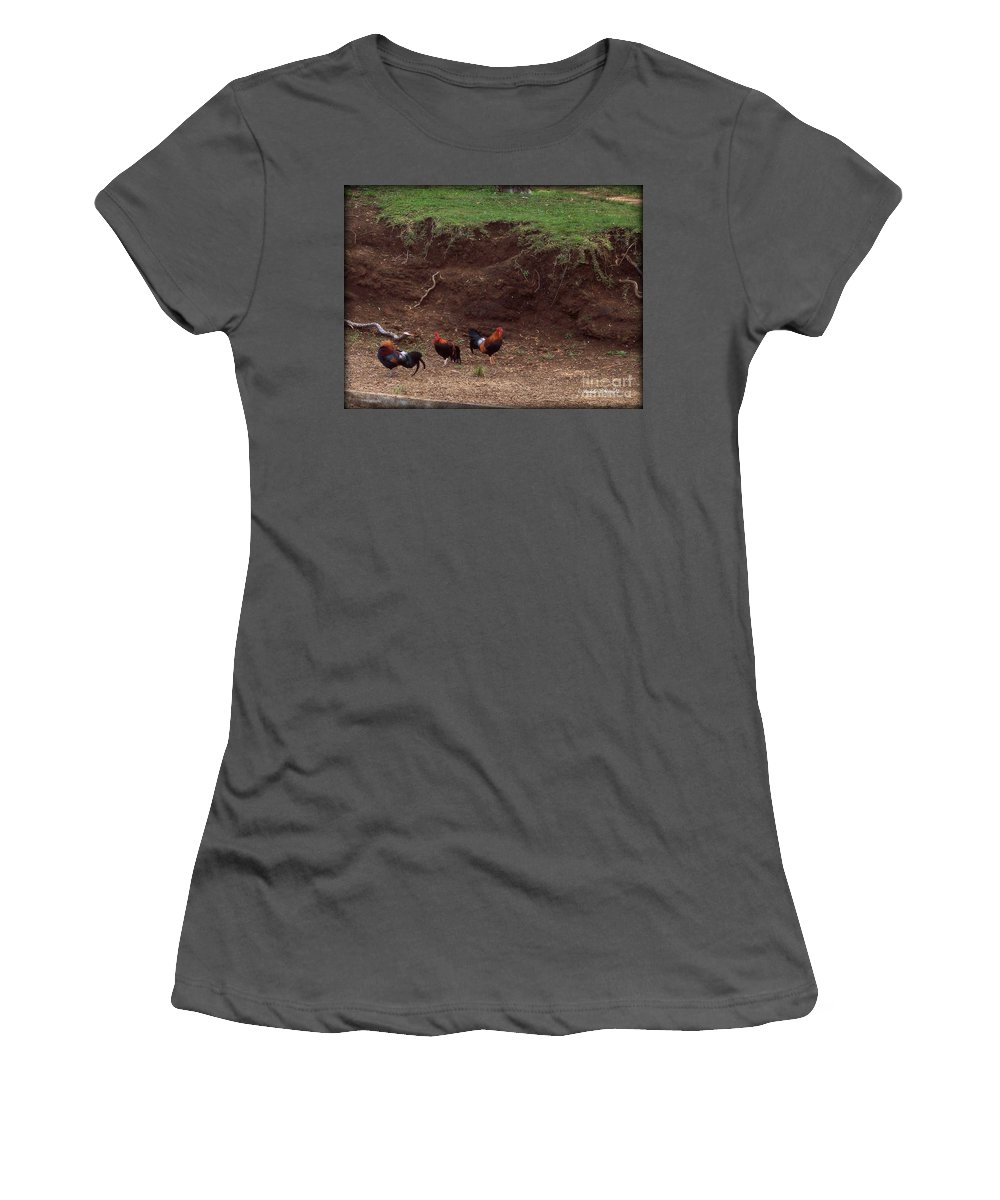 Moa Women's T-Shirt (Athletic Fit) featuring the photograph Kauai Moa by Paulette B Wright