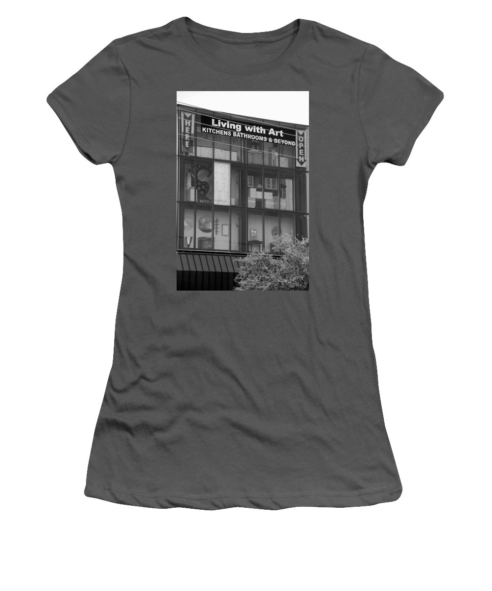 Showroom Women's T-Shirt (Athletic Fit) featuring the photograph Living With Art by Rob Hans