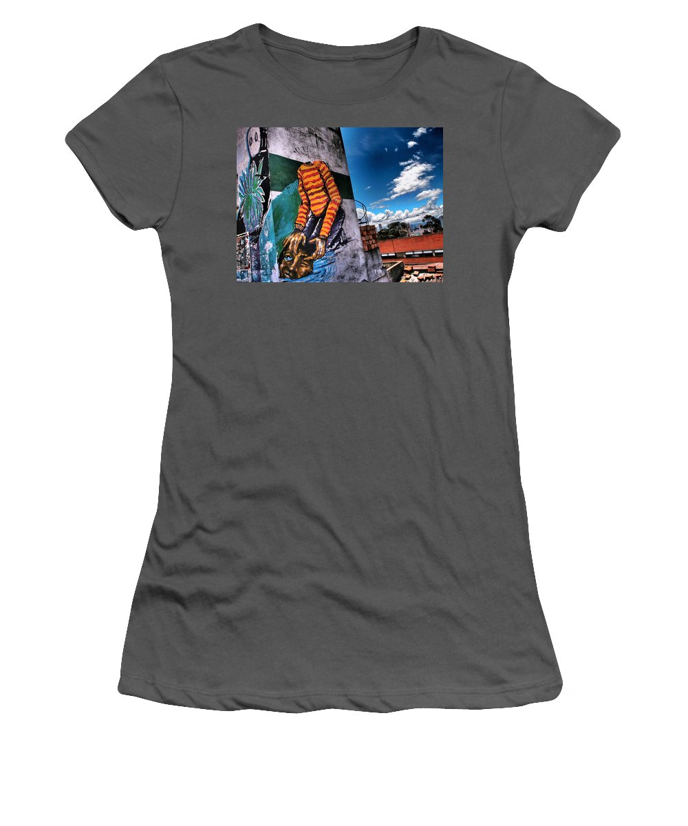 Lose Face Women's T-Shirt (Athletic Fit) featuring the photograph Lose Face by Skip Hunt