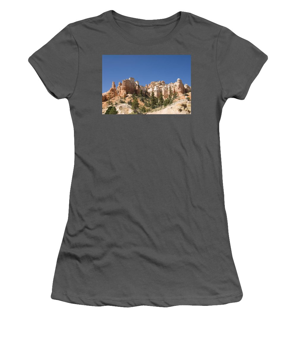 America Women's T-Shirt (Athletic Fit) featuring the photograph Mossy Cave Trail by Gloria & Richard Maschmeyer