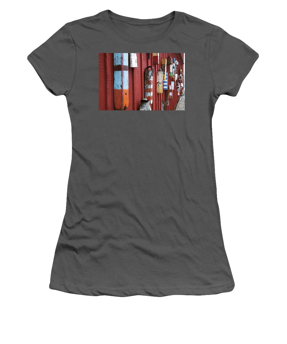American Women's T-Shirt (Athletic Fit) featuring the photograph Motif 1 by Jenna Szerlag