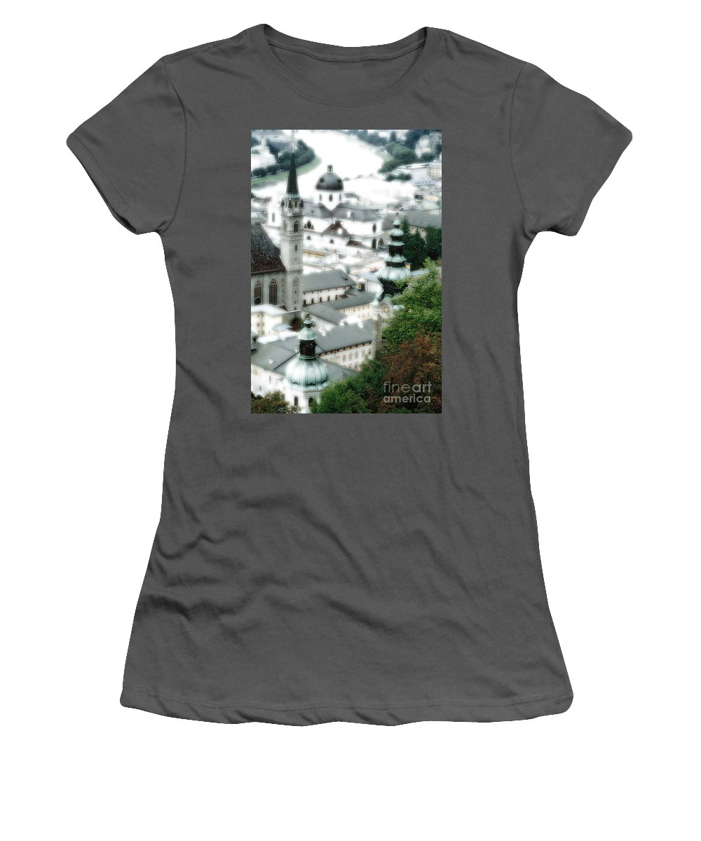 Salzburg Women's T-Shirt (Athletic Fit) featuring the photograph Old Salzburg by Mike Nellums