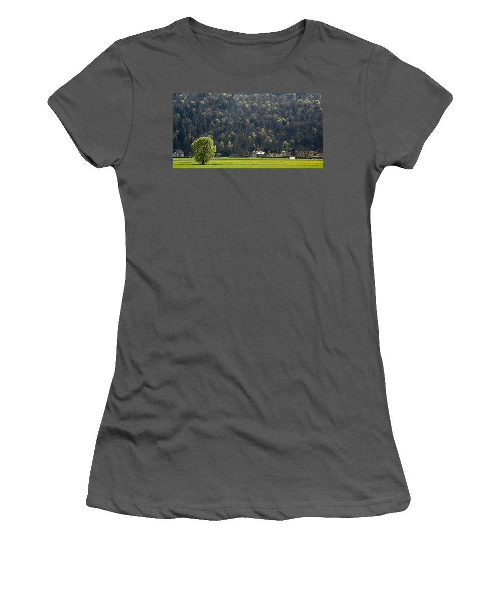 Tree Women's T-Shirt (Athletic Fit) featuring the photograph On My Own by Ian Middleton