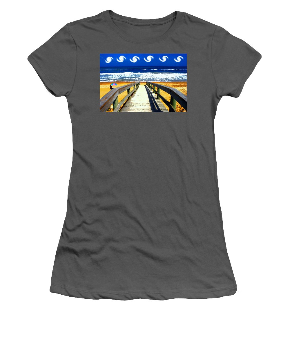 Art.artwork Women's T-Shirt (Athletic Fit) featuring the painting Perfect Day by David Lee Thompson