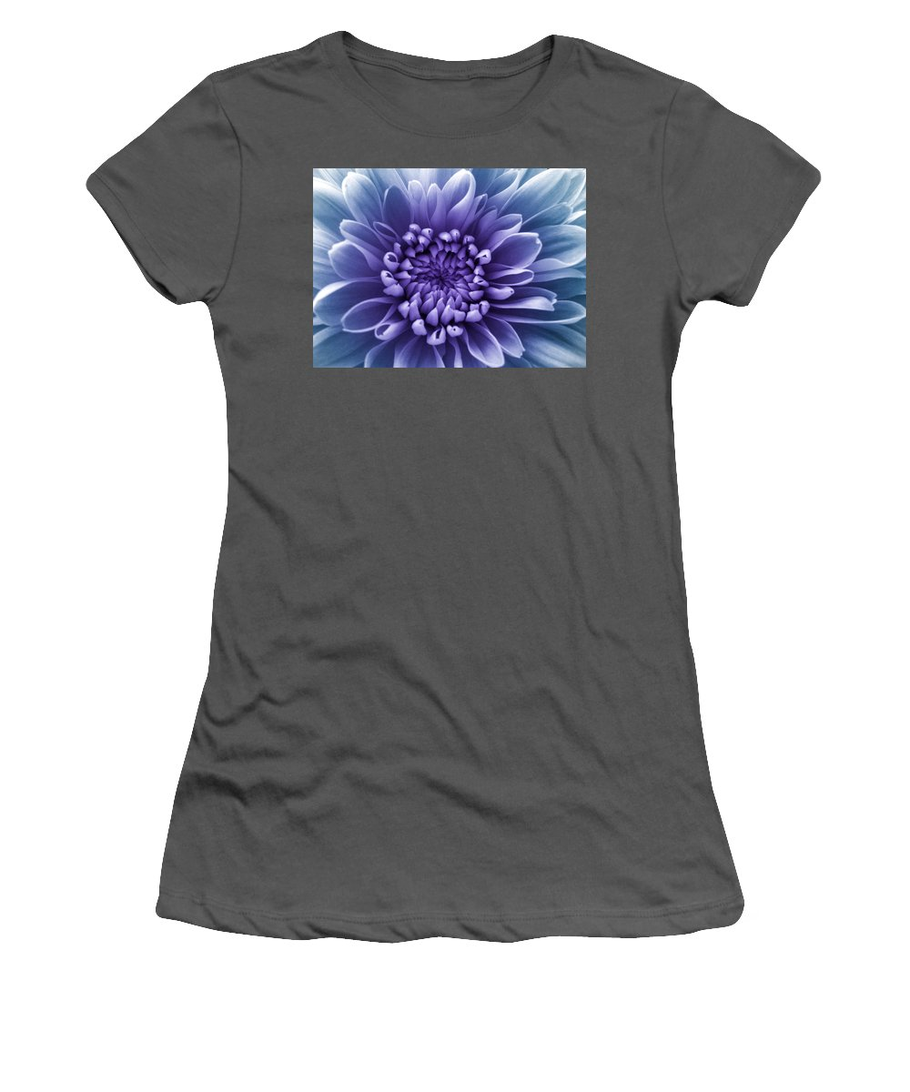 Purple Flower Women's T-Shirt (Athletic Fit) featuring the photograph Purple Flower by Dawn OConnor