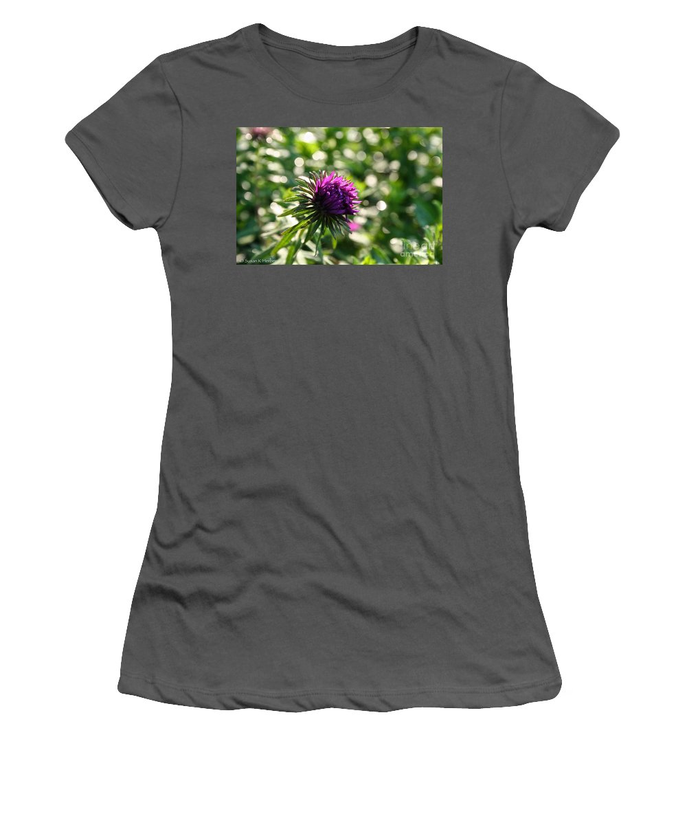 Outdoors Women's T-Shirt (Athletic Fit) featuring the photograph Purple by Susan Herber