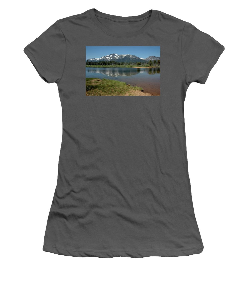 Usa Women's T-Shirt (Athletic Fit) featuring the photograph Quiet Reflections by LeeAnn McLaneGoetz McLaneGoetzStudioLLCcom