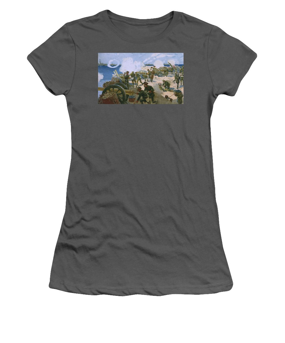 Rebellion In Venice Women's T-Shirt (Athletic Fit) featuring the painting Rebellion In Venice by Italian School