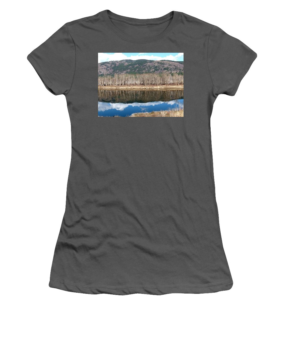 River Women's T-Shirt (Athletic Fit) featuring the photograph River Reflections by Will Borden