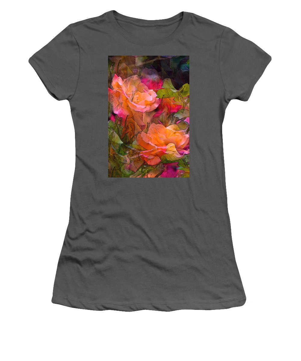 Floral Women's T-Shirt (Athletic Fit) featuring the photograph Rose 146 by Pamela Cooper