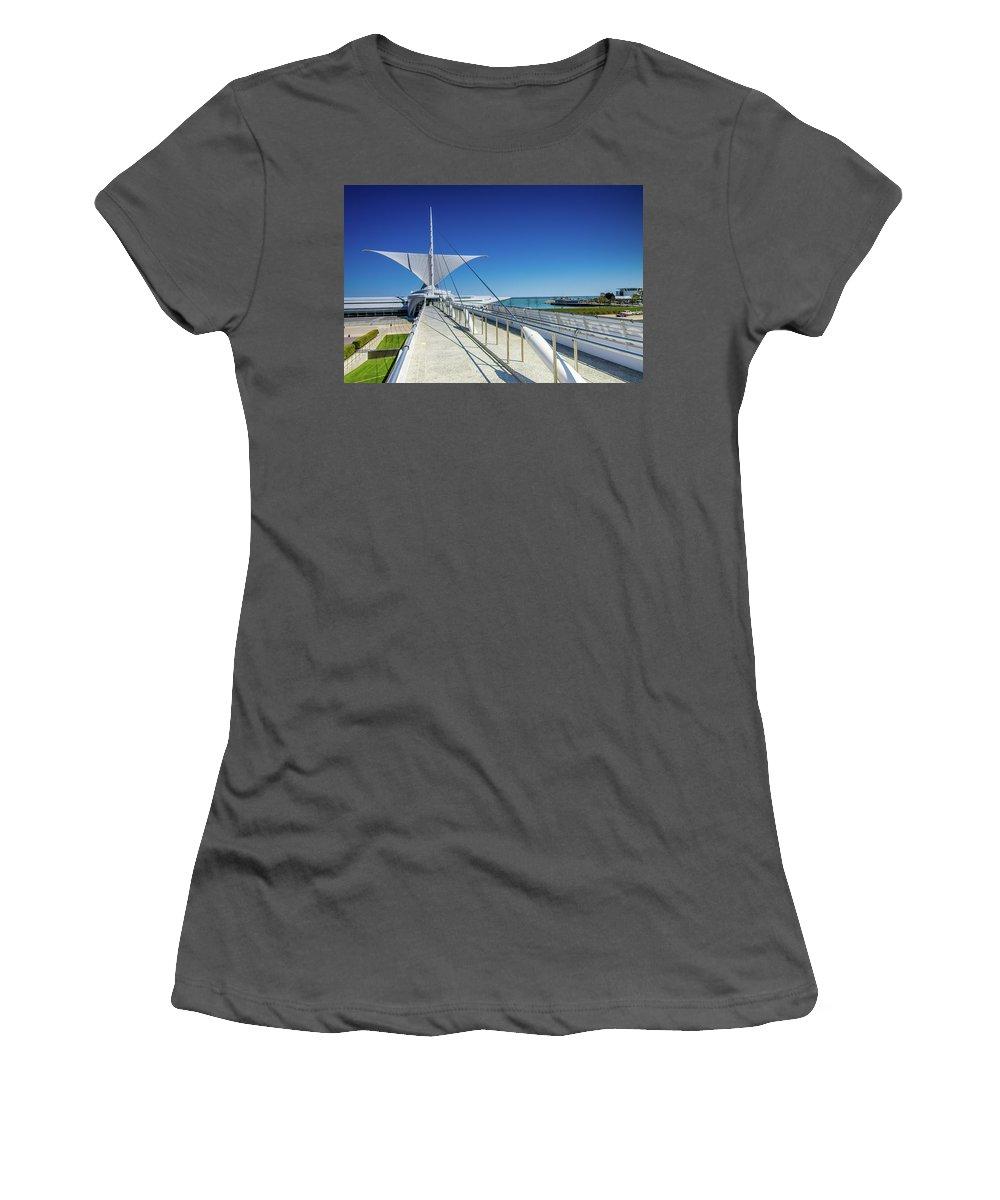 Bries Soleil Calatrava Santiago Women's T-Shirt (Athletic Fit) featuring the photograph Santiago's Briese Soleil by Jonah Anderson