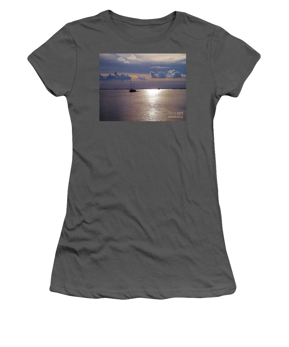 Florida Keys Women's T-Shirt (Athletic Fit) featuring the photograph Serene Sunset by Michelle Welles