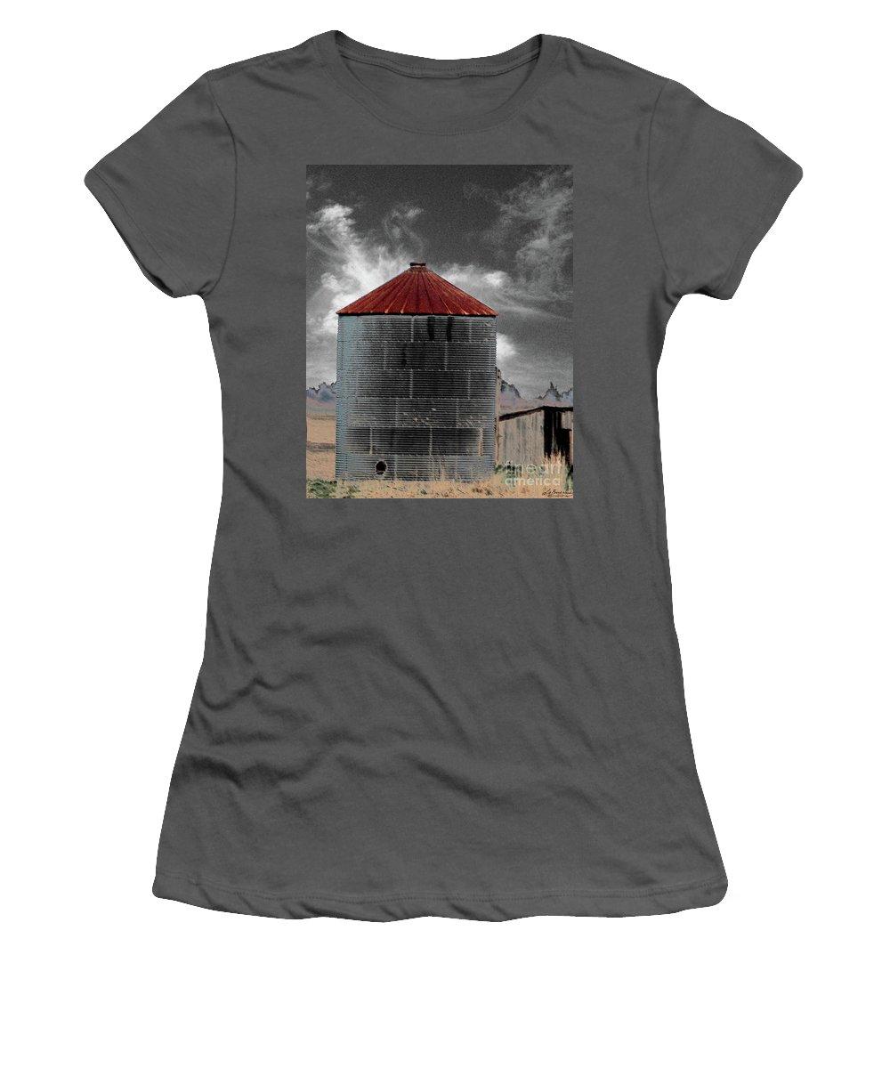 Blues Highway Women's T-Shirt (Athletic Fit) featuring the digital art Silo 61 by Lizi Beard-Ward