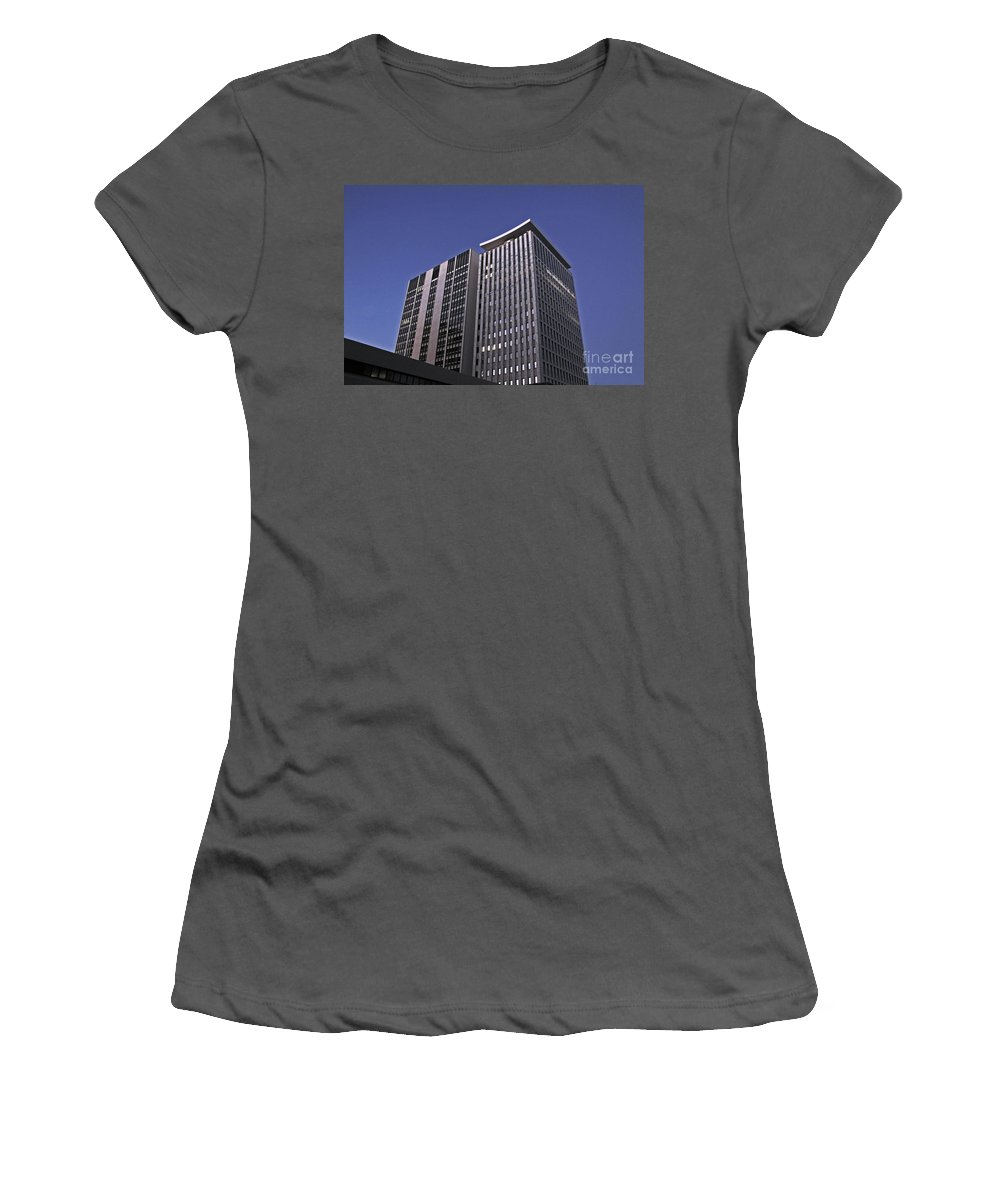 City Women's T-Shirt (Athletic Fit) featuring the photograph Stark City by Stephen Mitchell