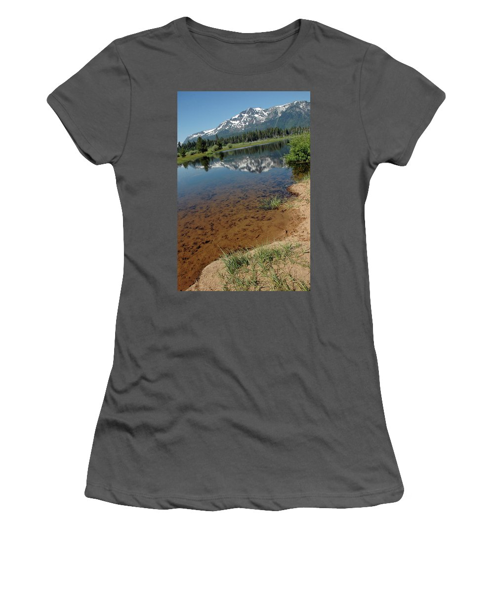 Usa Women's T-Shirt (Athletic Fit) featuring the photograph Tallac Run Off by LeeAnn McLaneGoetz McLaneGoetzStudioLLCcom