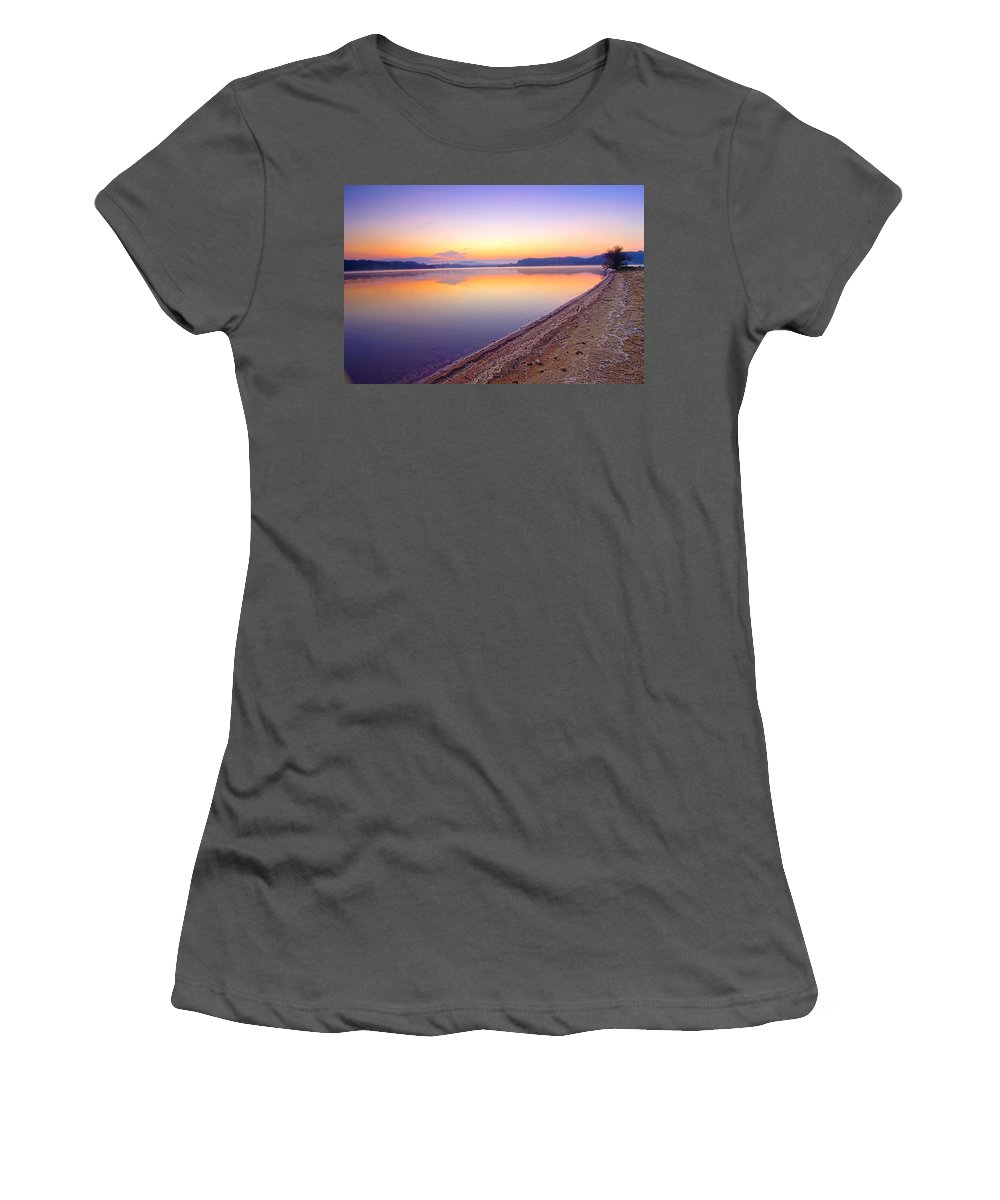 Dawn Women's T-Shirt (Athletic Fit) featuring the photograph The Break Of Dawn by Randall Branham