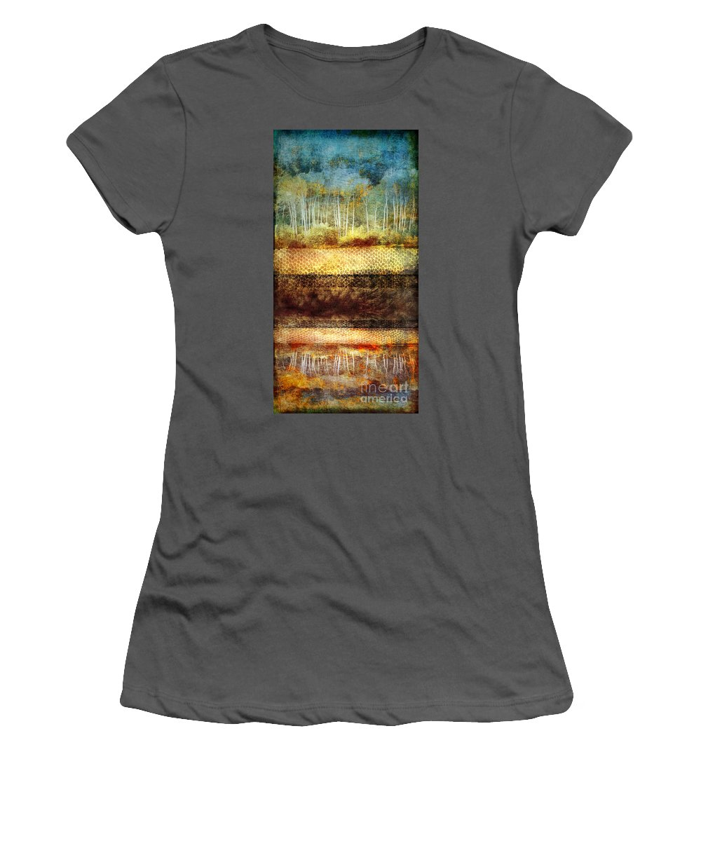 Trees Women's T-Shirt (Athletic Fit) featuring the digital art The Losses Reflected by Tara Turner