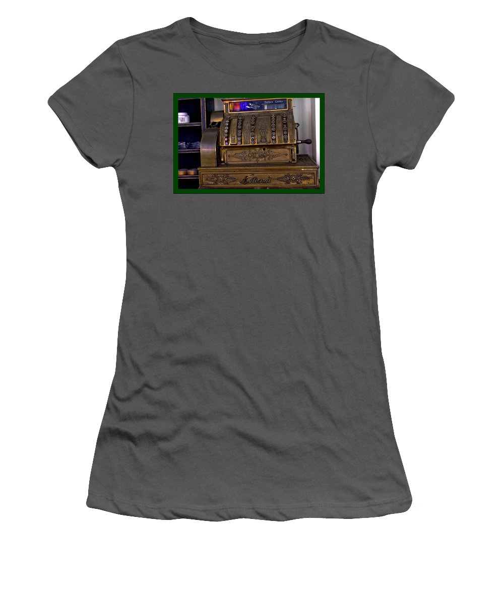 Copper Women's T-Shirt (Athletic Fit) featuring the photograph The Old Copper Cash Machine by LeeAnn McLaneGoetz McLaneGoetzStudioLLCcom