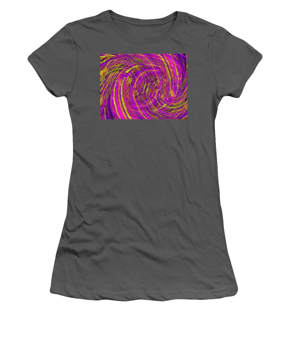 Abstract Women's T-Shirt (Athletic Fit) featuring the digital art The Wave by Tim Allen