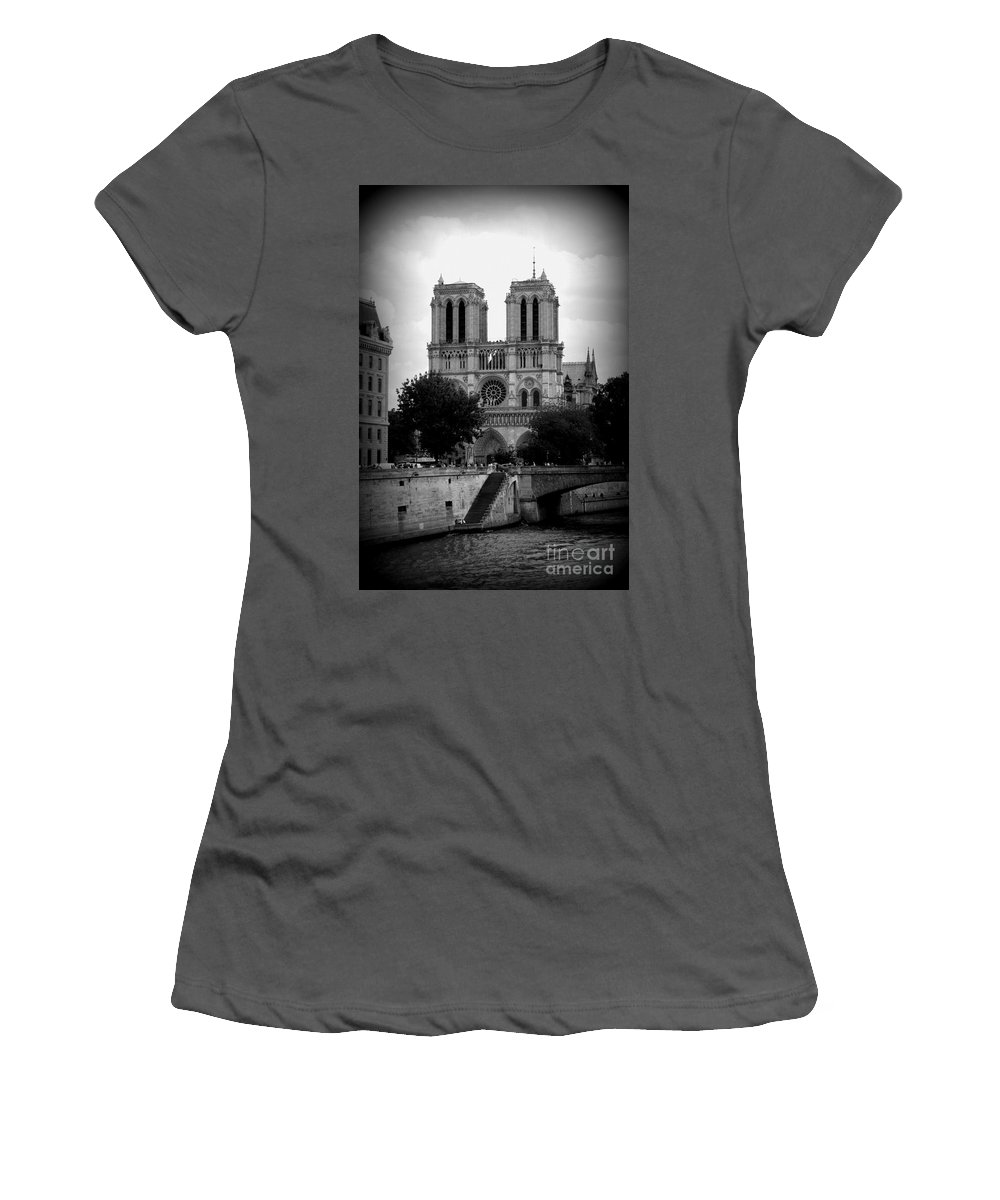 Notre Dame Women's T-Shirt (Athletic Fit) featuring the photograph Timeless Notre Dame by Carol Groenen
