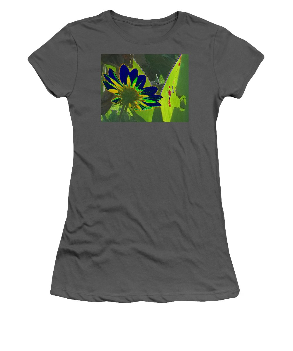 Special Effects Women's T-Shirt (Athletic Fit) featuring the photograph Tricked Leaf by Kent Dunning
