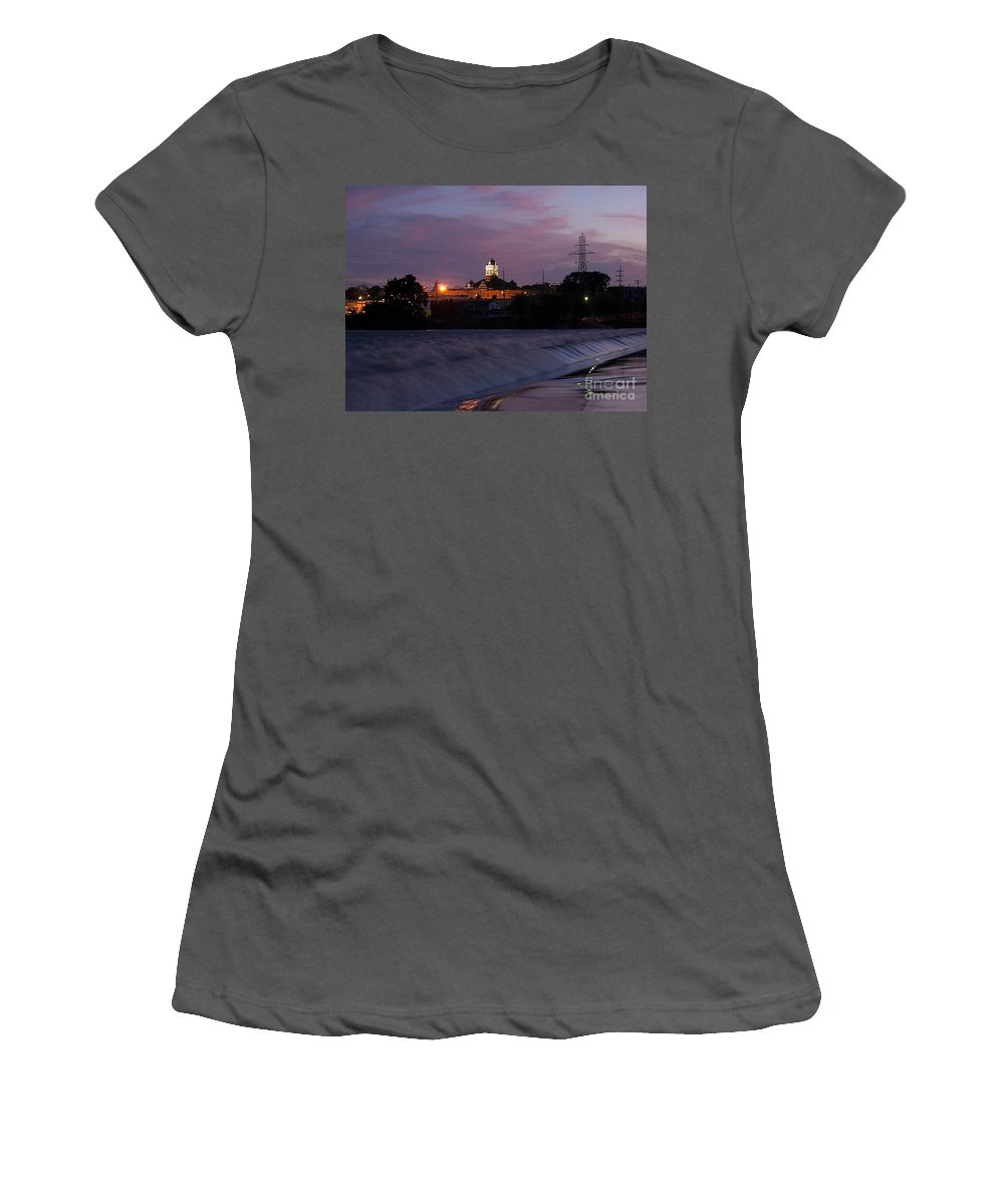 Color Photography Women's T-Shirt (Athletic Fit) featuring the photograph Twilight Rush II by Sue Stefanowicz