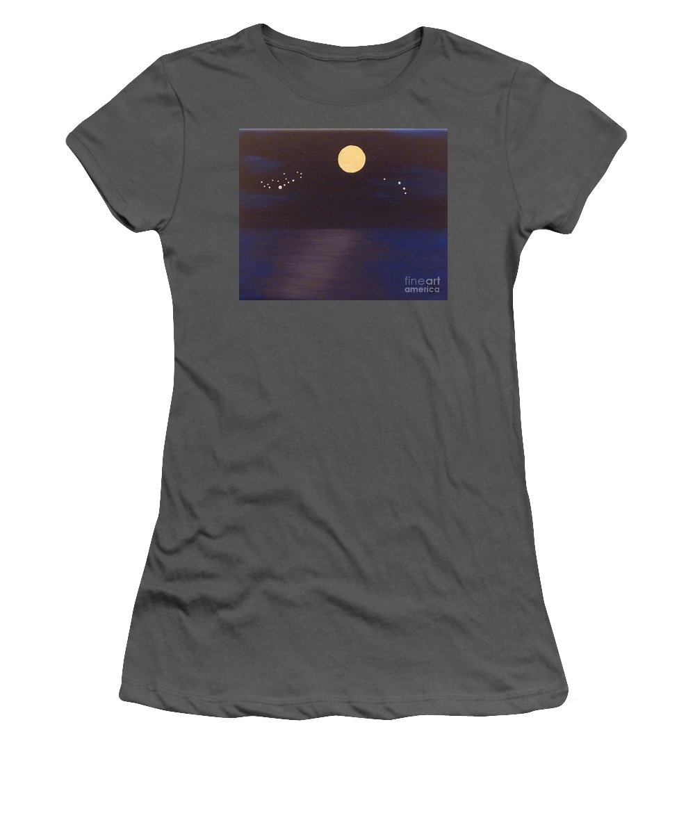 Stars Women's T-Shirt (Athletic Fit) featuring the painting Virgo And Aries by Alys Caviness-Gober