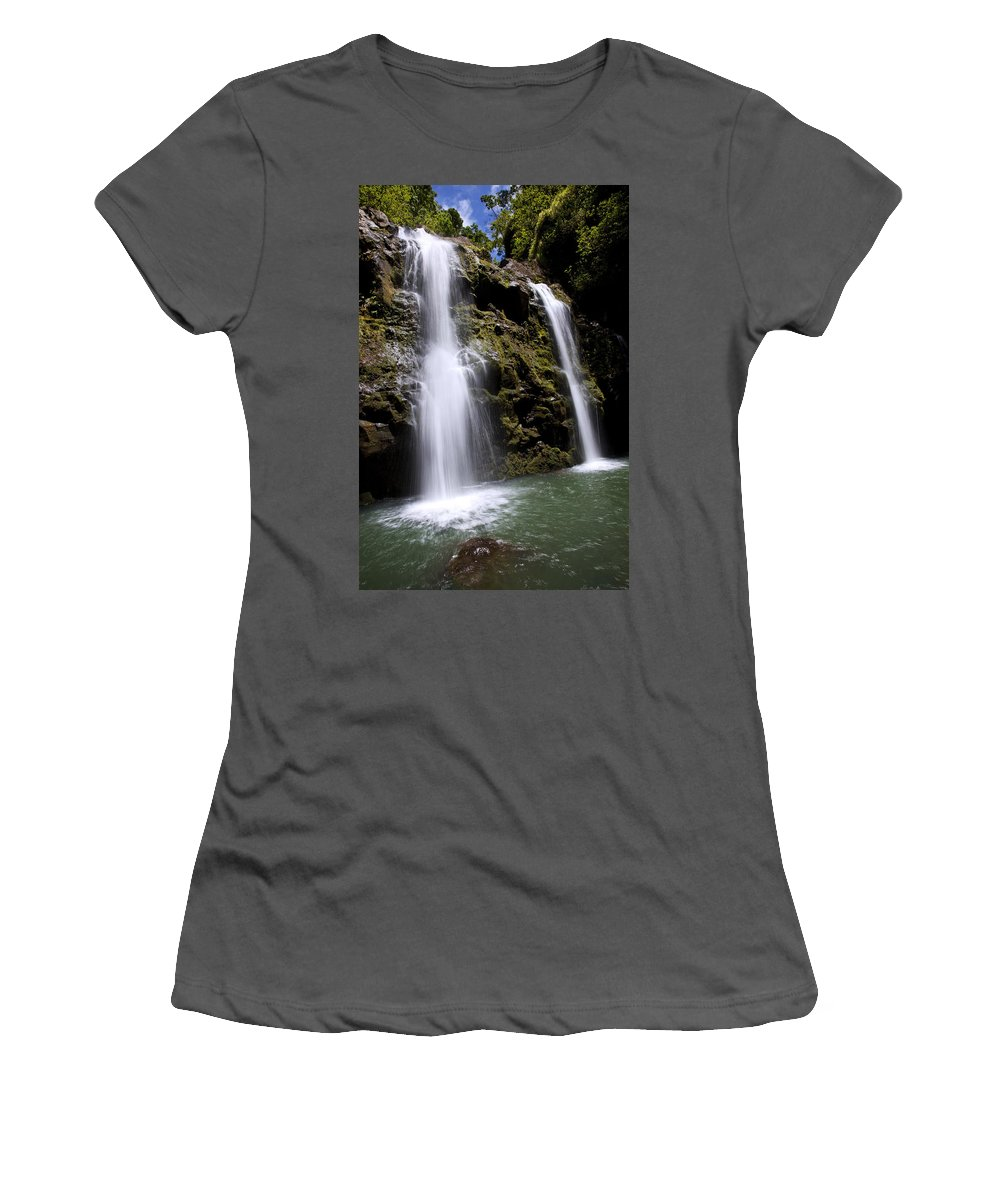 Beauty Women's T-Shirt (Athletic Fit) featuring the photograph Waikani Falls And Pond by Jenna Szerlag