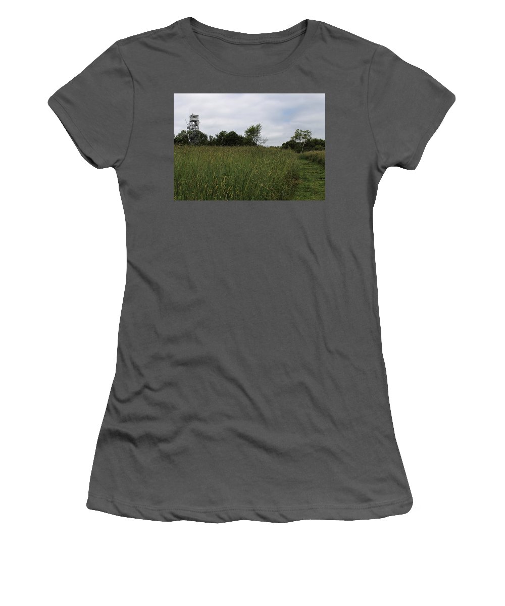 Ward Hill Women's T-Shirt (Athletic Fit) featuring the photograph Holt Hill by Jeff Heimlich