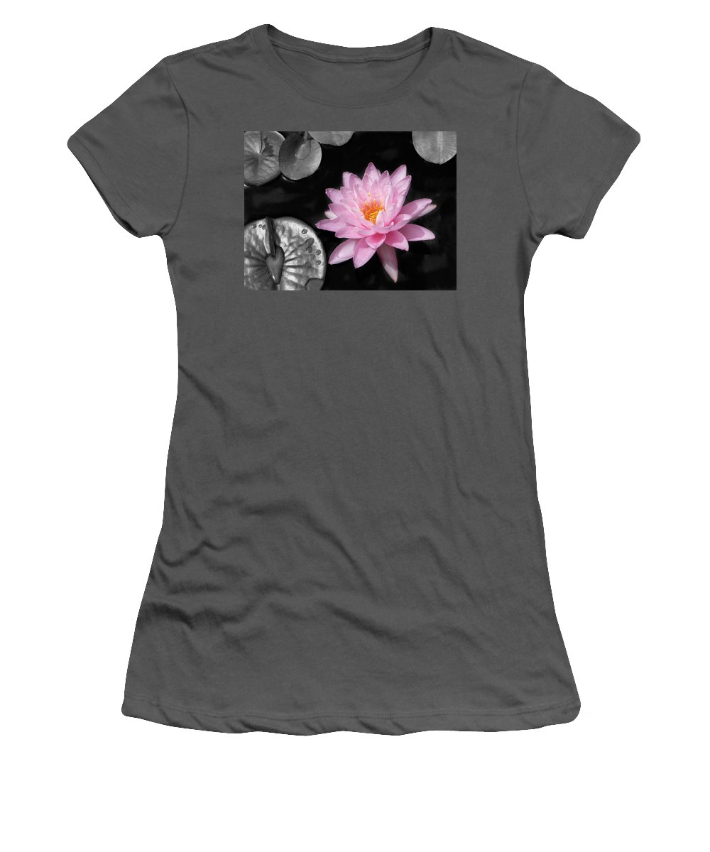 Dreaming Women's T-Shirt (Athletic Fit) featuring the photograph Water Lily by Rudy Umans