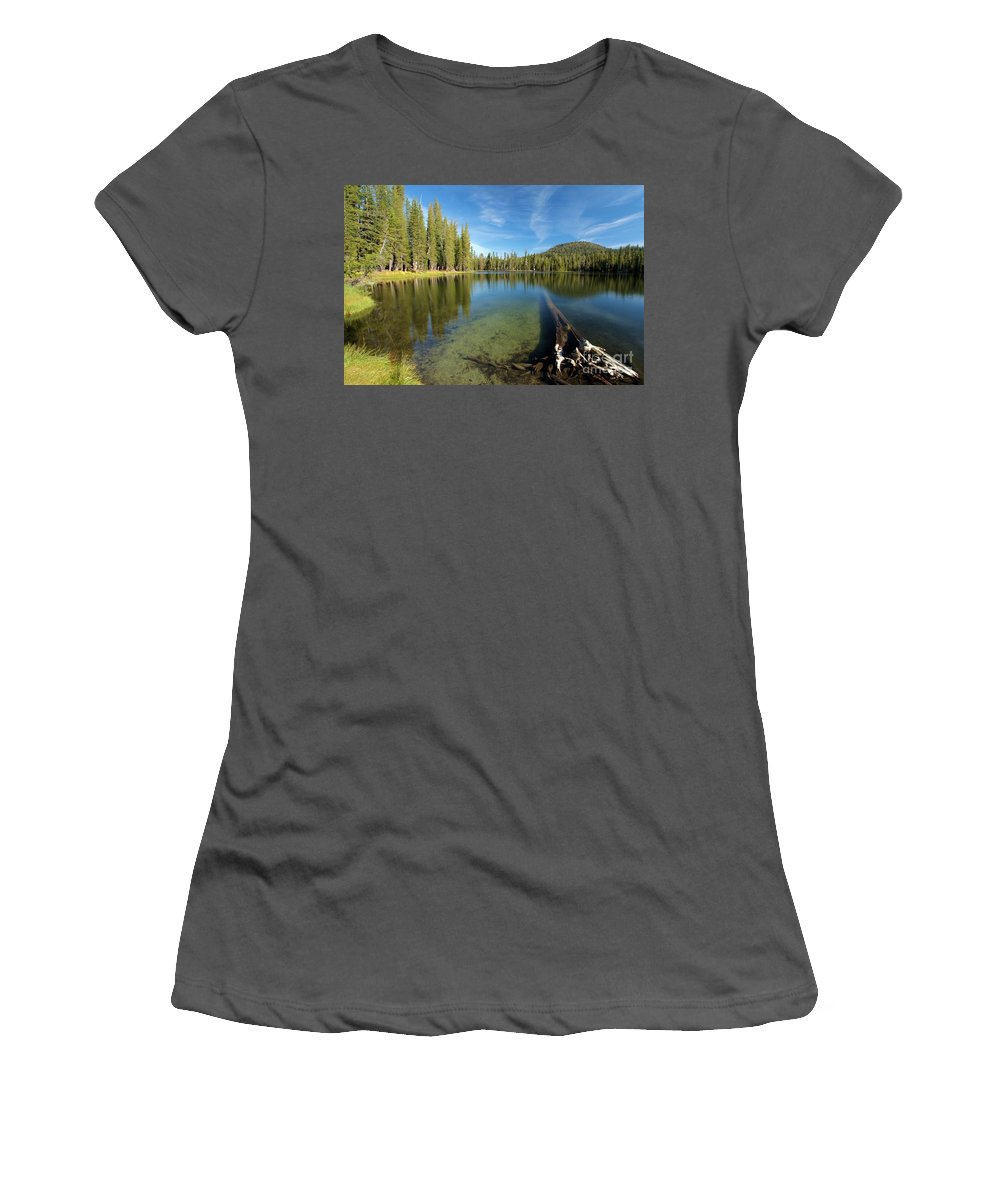 Summit Lake Women's T-Shirt (Athletic Fit) featuring the photograph Waterlogged by Adam Jewell