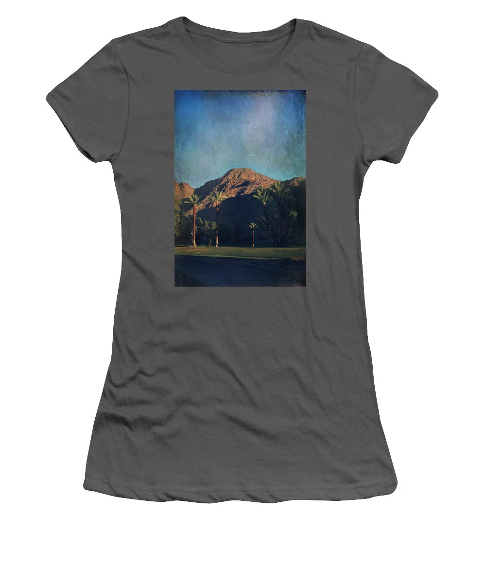 Indian Wells Women's T-Shirt (Athletic Fit) featuring the photograph We Live In Shadows by Laurie Search