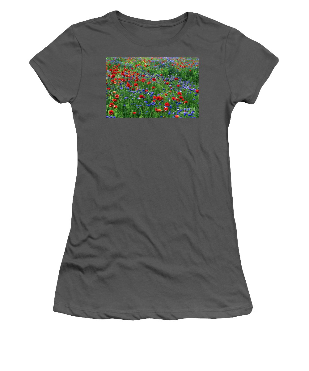 Bloom Women's T-Shirt (Athletic Fit) featuring the photograph Wildflowers by John Greim