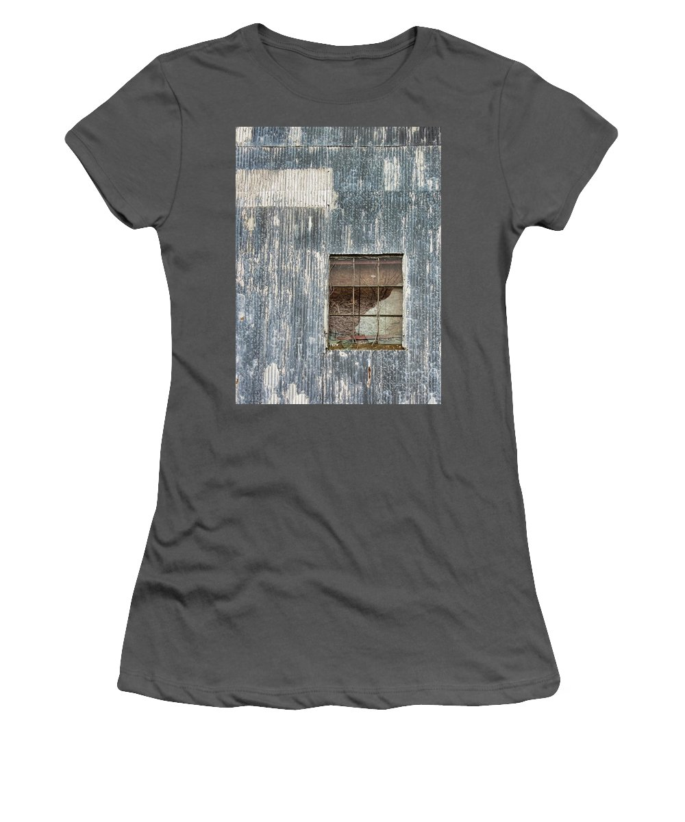 Grunge Women's T-Shirt (Athletic Fit) featuring the photograph Window In Time 2 by Kathy Clark
