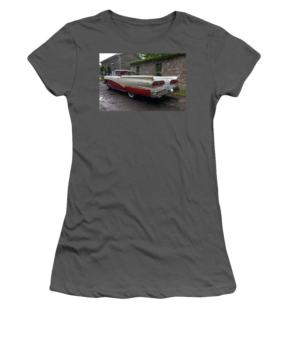 Antique Car Women's T-Shirt (Athletic Fit) featuring the photograph Ford Fairlane by Guy Whiteley