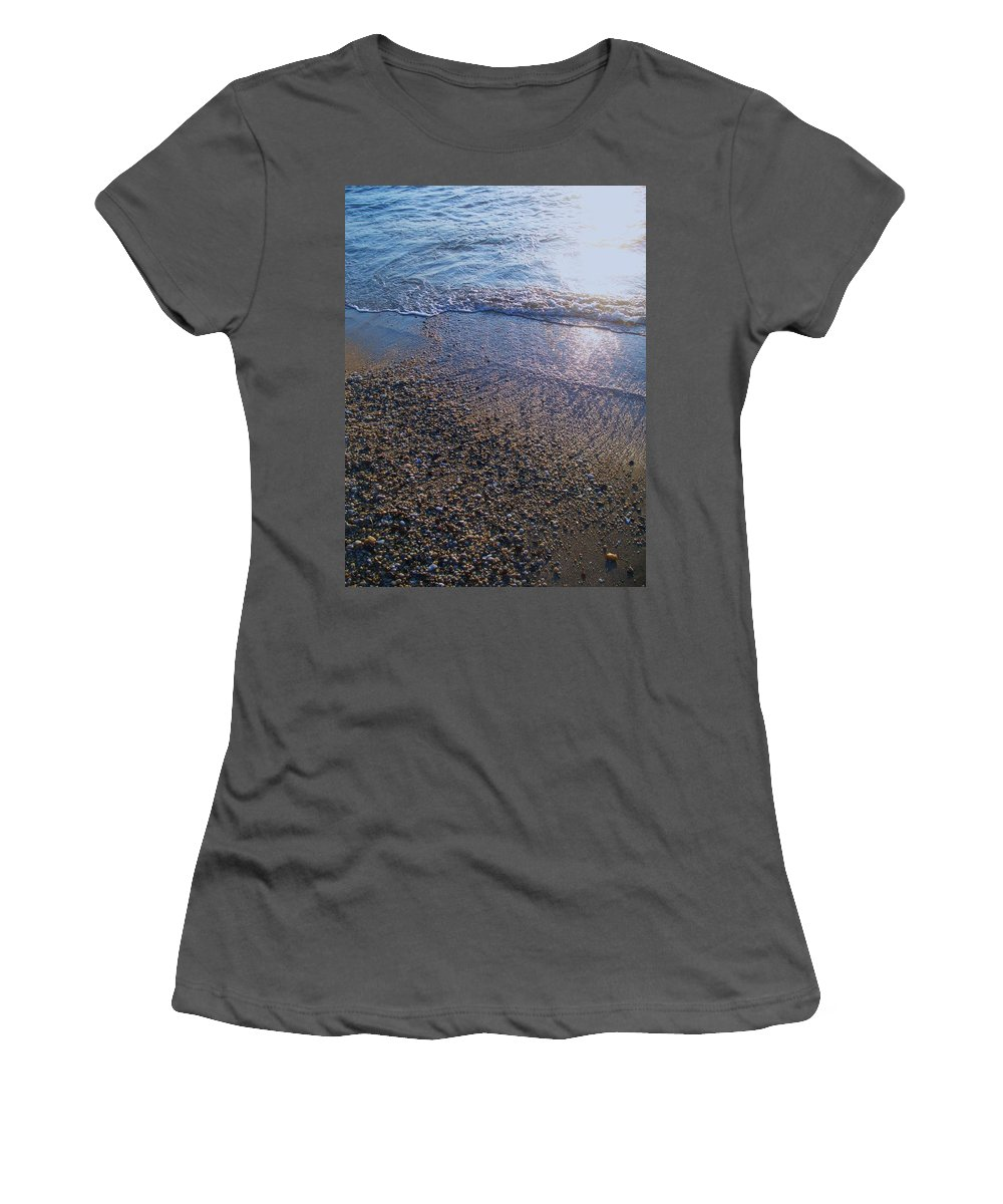 Waves Women's T-Shirt (Athletic Fit) featuring the painting Refreshing Surf by Eric Schiabor