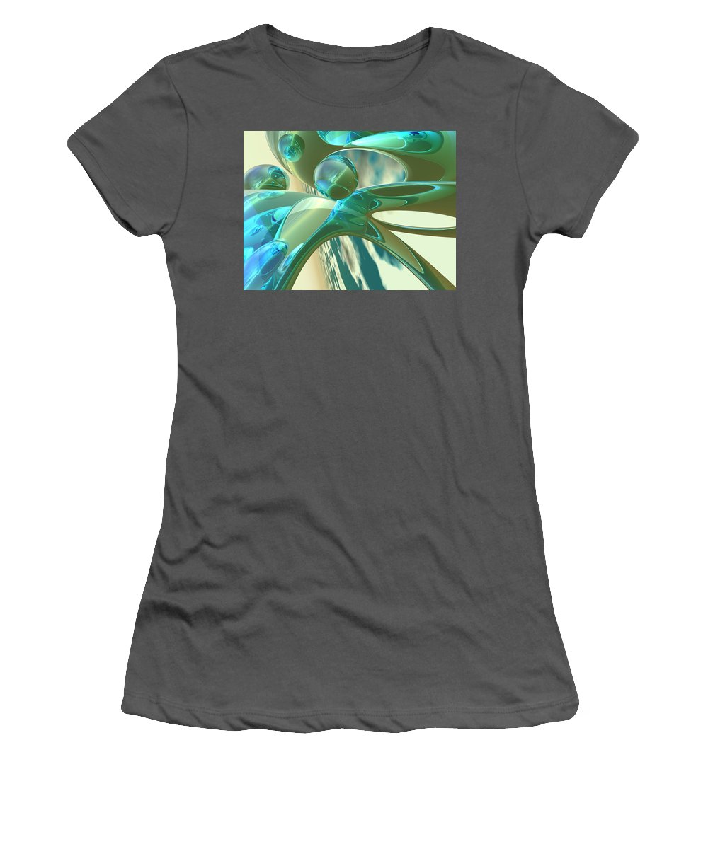Scott Piers Women's T-Shirt (Athletic Fit) featuring the painting Ashton by Scott Piers