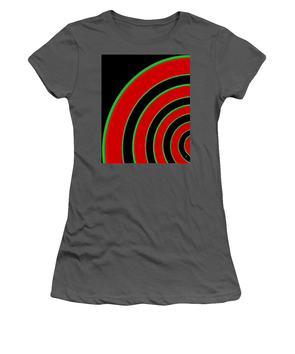 Abstract Women's T-Shirt (Athletic Fit) featuring the digital art Candid Color 1 by Will Borden