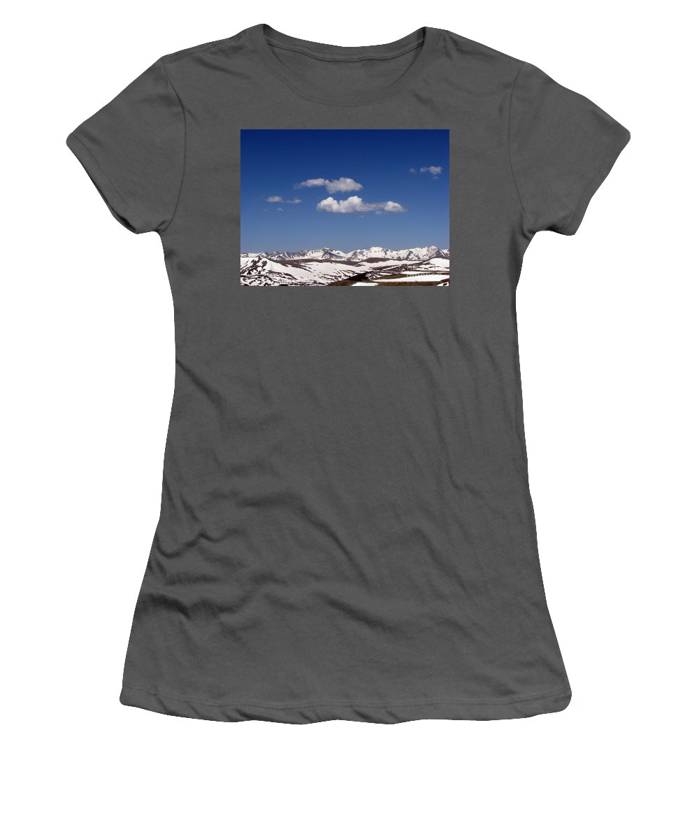 Mountains Women's T-Shirt (Athletic Fit) featuring the photograph Colorado by Amanda Barcon